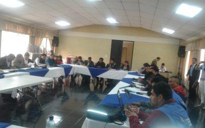 Reuníon del Gobernador Departamental con los Alcaldes de los Municipios de San Cristóbal Totonicapán, en seguimiento a la Problematica de límites entre ambos Municipios