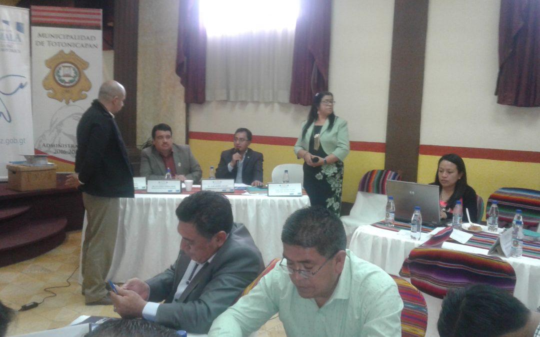 Reunión Ordinaria del Concejo de Desarrollo de Totonicapán 18/10/2017
