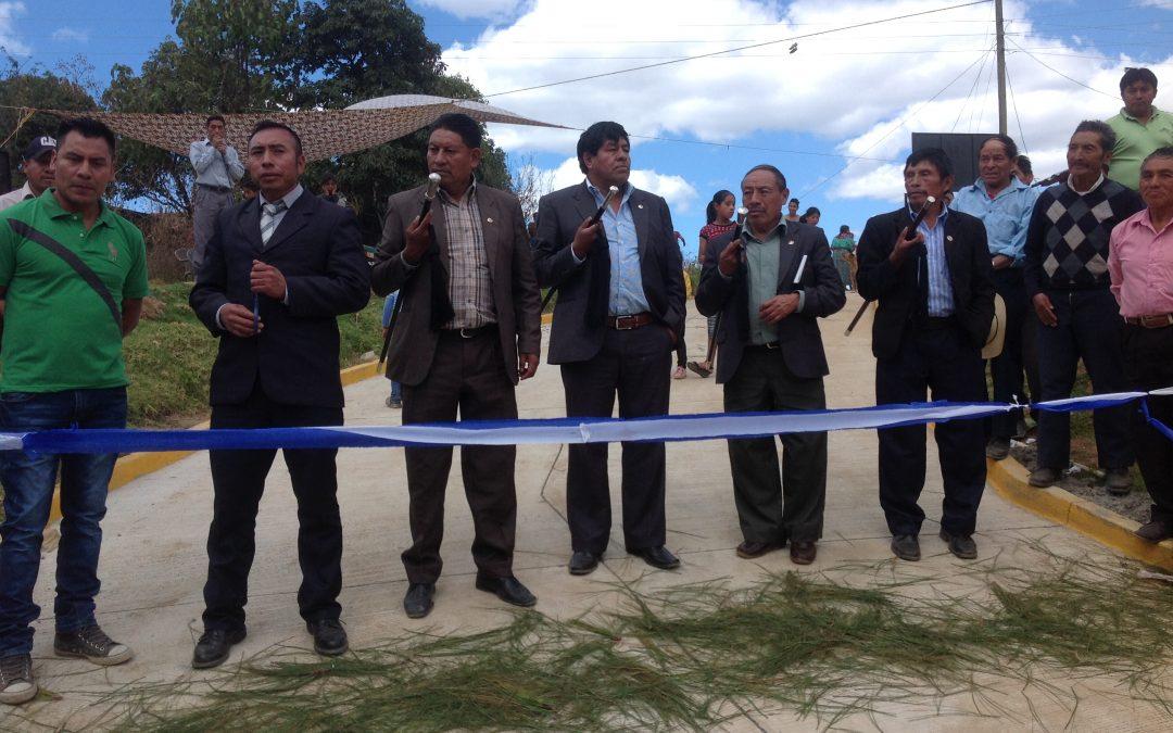 """Inauguración de Proyecto """"Mejoramiento de Camino Rural Caserío Paxán, Sector II, Aldea Chuacorral III, Santa María Chiquimula, Totonicapán"""""""