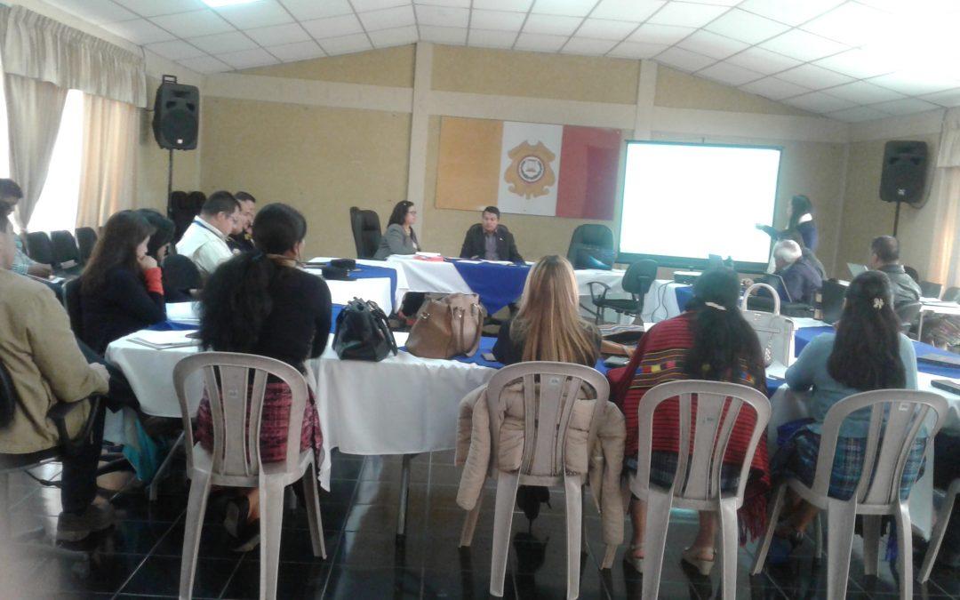 Reunión de la UDT Totonicapán